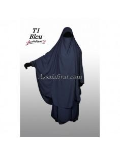 Jilbab Assalafiyat 2 pièces Bleu T1