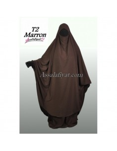 Jilbab Assalafiyat 2 pièces Marron T2