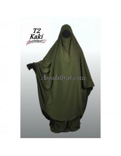 Jilbab Assalafiyat 2 pièces Kaki T2