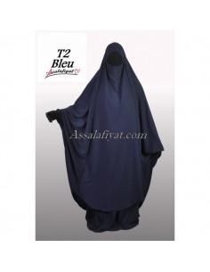 Jilbab Assalafiyat 2 pièces Bleu T2