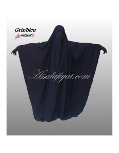 Jilbab Assalafiyat Saoudien Bleu / Gris T1