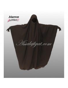 Jilbab Assalafiyat Saoudien Marron T1