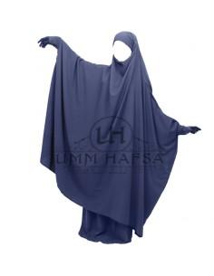 Jilbab Umm Hafsa à Zip Bleu - T1