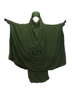 Jilbab Umm Hafsa à Zip Kaki - T3