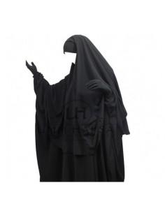 Hijab Cape Noir Umm Hafsa