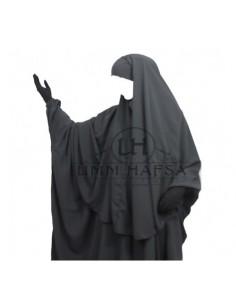Hijab Cape Gris Umm Hafsa