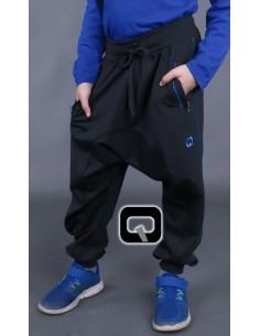 Sarouel lift enfant noir/bleu 4 ans-Qaba'il
