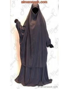 Jilbab Al Manassik Anthracite -Jupe