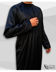 Qamis Emitati Noir-Custom Qamis