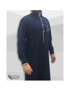 Qamis Edge Bleu -Custom Qamis