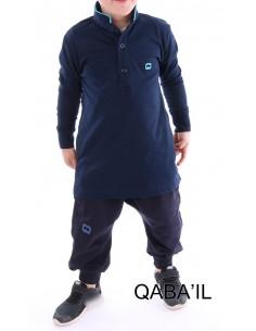 Polo Enfant Bleu Nuit-Qaba'il