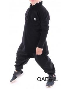 Polo Enfant Noir - Qaba'il