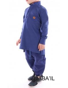 Polo Enfant Bleu Indigo - Qaba'il