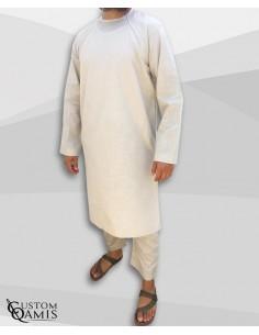 Qamis Pakistanais Imad Beige - Custom Qamis