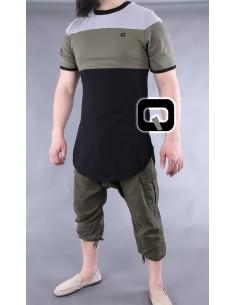 Tee Shirt Noir et Kaki -Qaba'il