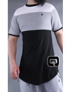 Tee Shirt Gris et Noir - Qaba'il