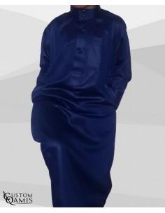Qamis Enfant Saoudien Bleu - Custom Qamis