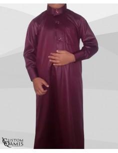Qamis Enfant Saoudien Bordeau- Custom Qamis