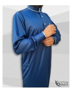 Qamis Trim bleu- Custom Qamis