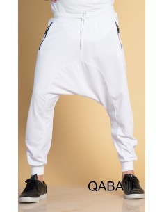 Sarouel Jogging Léger Blanc-Qaba'il
