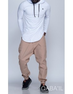 Tee Shirt Manches Longues Blanc-Qaba'il