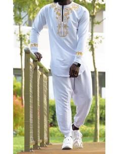Sweat Iznit Africain Blanc...