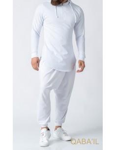 Sweat Etniz Marocain Blanc - Qaba'il