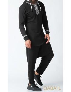 Sweat Etniz Marocain Noir - Qaba'il