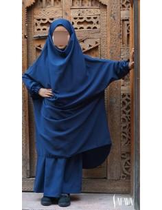 Jilbab Enfant Bleu