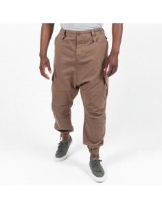 pantalon cargo basic mink...