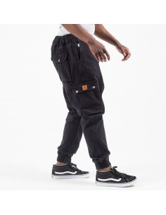 pantalon jeans cargo usual fit black -dc jeans