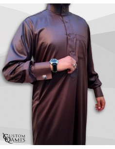 Qamis soutien marron -CUSTOM