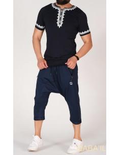 tee shirt etniz noir-qaba'il