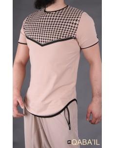 tee shirt keffieh beige-Qaba'il