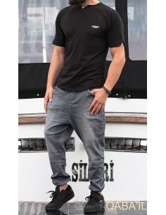 tee shirt level noir-qaba'il
