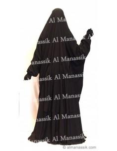 Jilbab : 2 pièces cape + jupe noir