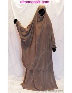 Jilbab Al Manassik taupe