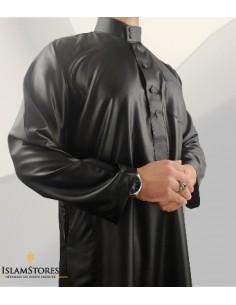 Qamis Saoudien Noir  Satiné...