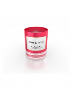 bougie parfumée rose & musk