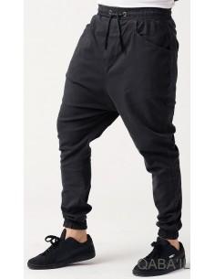 sarouel pant stretch noir-qaba'il