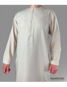 Qamis Emirati Beige -emirat collection