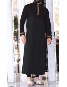 Qamis eminence long noir/or - Qaba'il