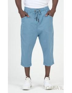 Sarouel Bermuda Stretch Bleu Clair - Qaba'il