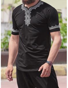 tee-shirt etniz up noir - Qaba'il