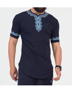 tee shirt etniz up bleu - Qaba'il