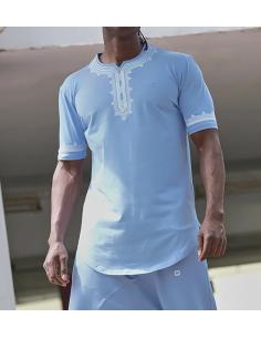 tee-shirt etniz up bleu clair - Qaba'il