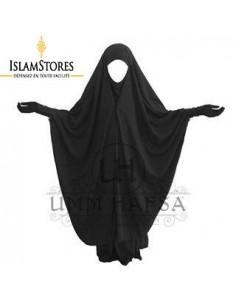 Jilbab / Jilbeb 2 pièces Umm Hafsa à Clips Noir
