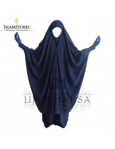 Jilbab 2 pièces Umm Hafsa Clips Bleu