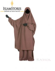 Jilbab Sawa : Chocolat (Taille 2)