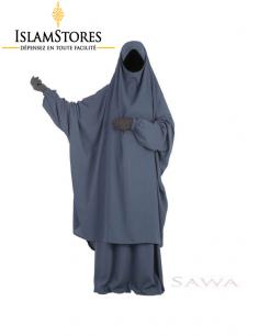 Jilbab Sawa : Bleu Marine (Taille 2)
